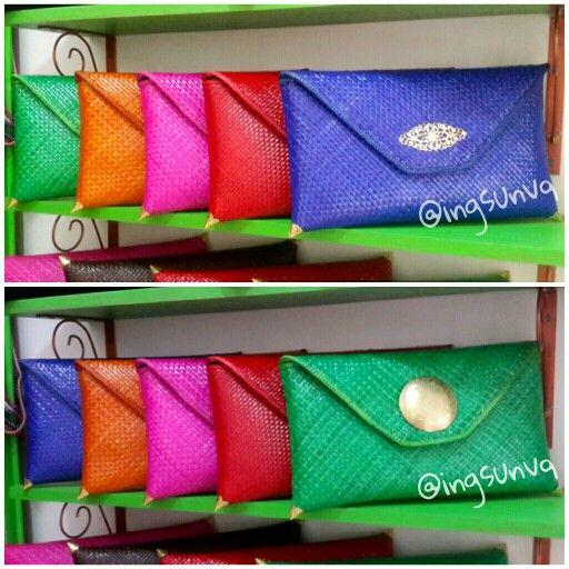 Anyaman clutch bag  33x20cm Tanpa rantai