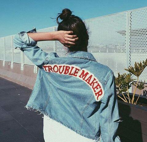 Imagem De Girl Grunge And Tumblr Edgy Denim Jacket With