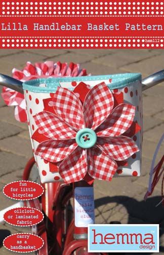 Make a handlebar basket for those little trikes or bikes.