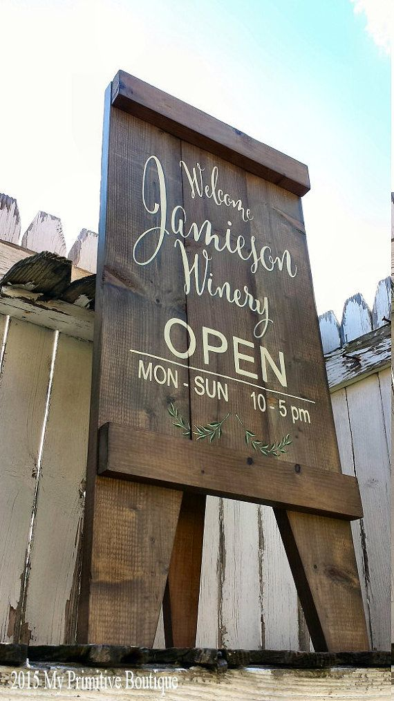 SANDWICH SIGN, Custom Wedding Sign, A Frame Sign, Aged Wood, Sandwich Board, Business Sign, Rustic Sign, Self Standing Sign