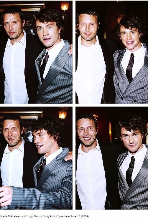 Mads Mikkelsen and Hugh Dancy / King Arthur premiere 2004