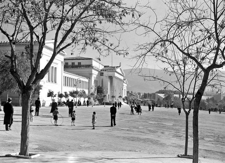 Sunday at Zappeio in Athens! 1935-39. by Voula Papaioannou. Benaki Museum