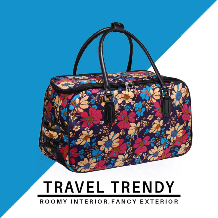 Add a bold and feminine touch to your travels. 🌺🌼