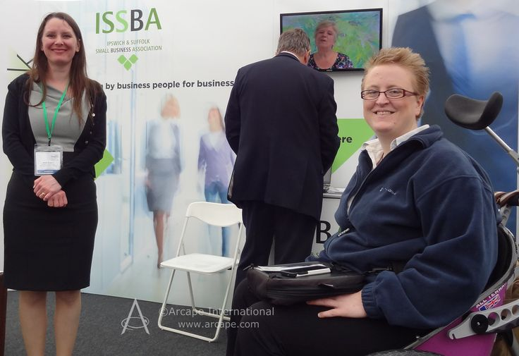 We received a warm and friendly welcome from @RuthCheesley and her associates on the ISSBA stand.