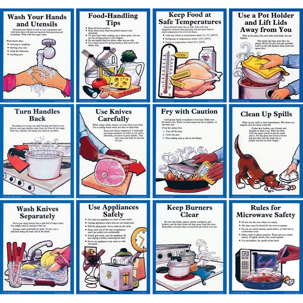 kitchen safety | Don't Get Hurt in the Kitchen! Posters ~ Posters ~ Food Safety