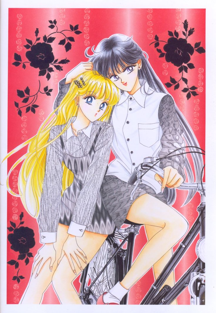 "Rei Hino (Sailor Mars) & Minako Aino (Sailor Venus) from ""Sailor Moon"" series by manga artist Naoko Takeuchi."