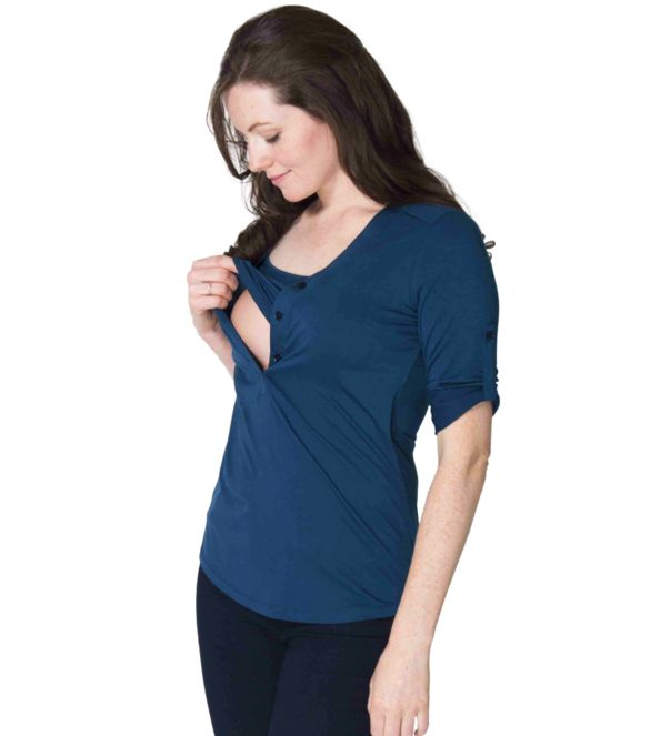 New great Maternity and Nursing Shirt Momzelle Sadie. You'll love the style with 3/4 sleeves and a convenient opening.  Great price and long lasting quality!