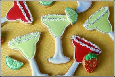 Margarita cookies...: Adorable Margaritas, Decor Margaritas, Sugar Cookies, Martinis Cookies, Cookies Decor, Decor Cookies, Drinks Cookies, Pink Martini, Margaritas Cookies