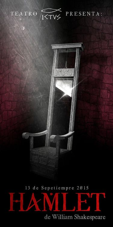 Metodologia para la creatividad: Afiche obra Hamlet (Fotomontaje)