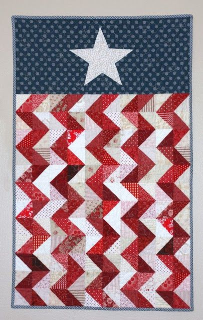 Chevron Flag wall hanging at A Little Bit Biased: Finished Quilts
