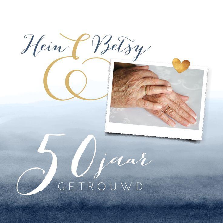 #jubileum #getrouwd #feest #uitnodiging #hipdesign #uitnodigingmaken #gouden #jubileum #50jaar