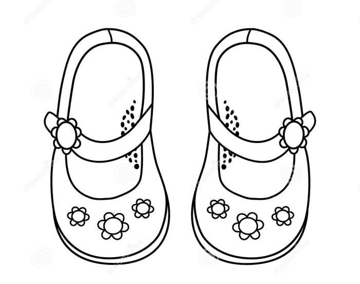 Nice Coloring Pages of Girls Shoes for Adults to Print