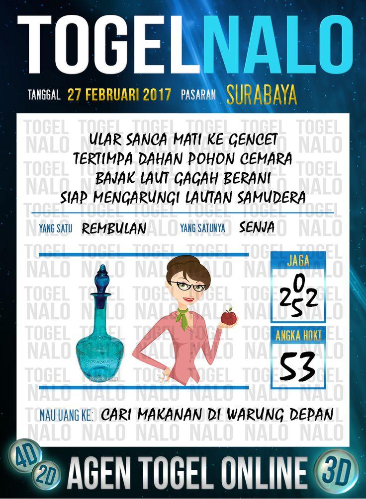 Lotre Taysen 4D Togel Wap Online Live Draw 4D TogelNalo Surabaya 27 Februari 2017