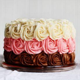 Original Neapolitan Rose Cake - Full tutorial for this beautiful and delicious cake!