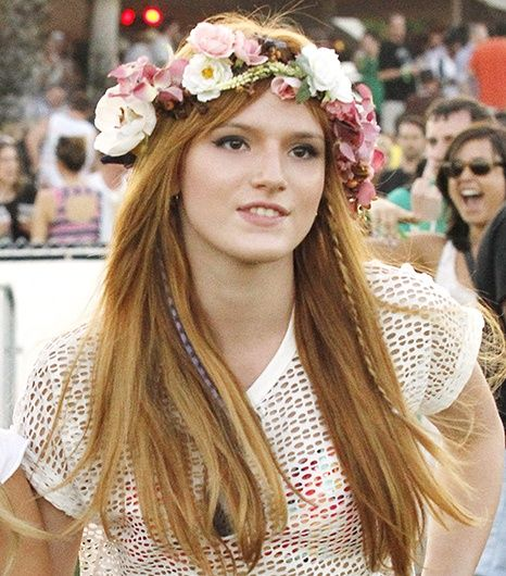In true music festival style Bella Thorne sported beachy waves underneath her custom-made floral crown at Coachella. Fresh blossoms aren't a practic
