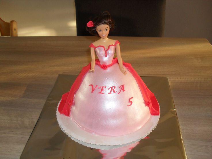 Barbie prinses taart/ Barbie princess cake