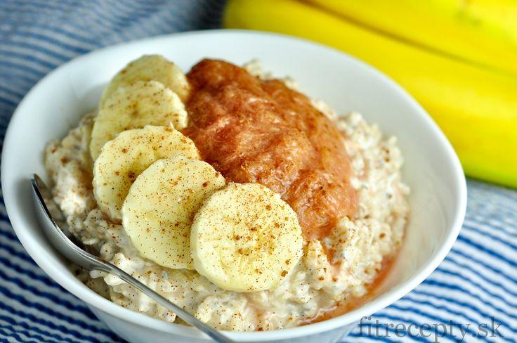 Chia ryža v mlieku s ovocným pyré a banánom - FitRecepty