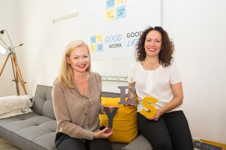 """Im ersten Teil spricht sie mit Justine Lagiewka und Pia Michel von der Frankfurter Beratung """"Good Work Good Life"""". Beide sind als Coach für Menschen tätig, die im Job zufriedener werden wollen."""
