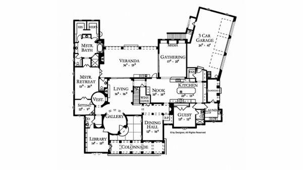 mediterranean mansion floor plans first plan open home