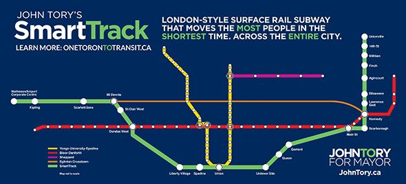 John Tory's Smart Track solution for transit. Not only is it smart, it might just work.