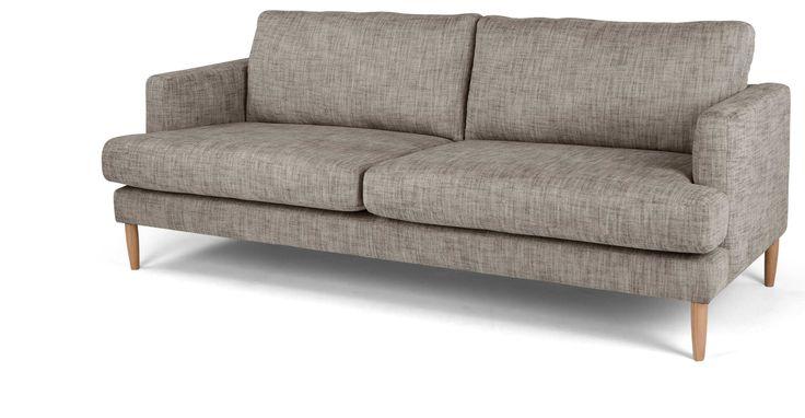 Kotka, un canapé 3 places, charbon vintage | made.com