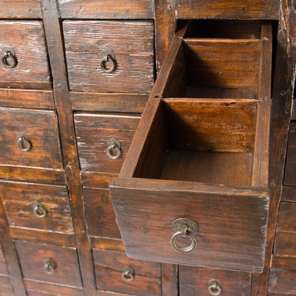 Vintage Apothecary Cabinet. I have always wanted one of these.