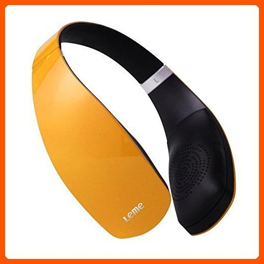 Leme EB30A Wireless Ergonomic Bluetooth 4.1 Over Ear Headphone with Built-in Mic and 12 Hour Battery, with Noise Reduction and Echo Cancellation, Perfect Headset for Gaming and Music (Orange) - Audio gadgets (*Amazon Partner-Link)