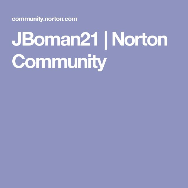 JBoman21 | Norton Community
