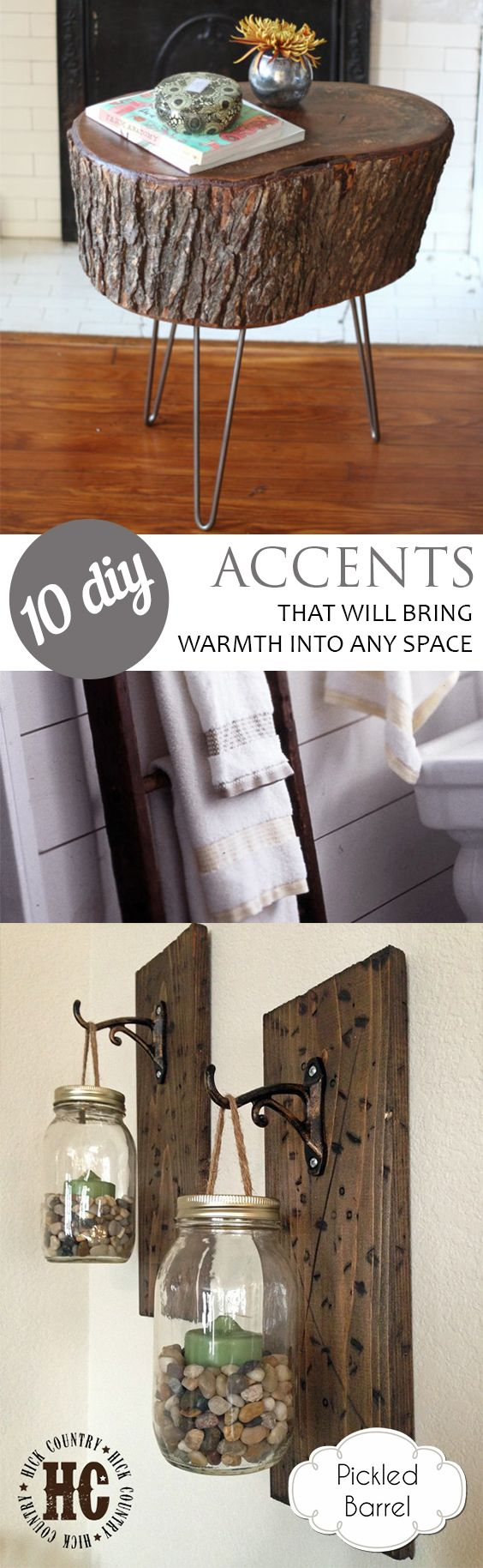 Rustic accents rustic accents for the home diy projects rustic diy projects