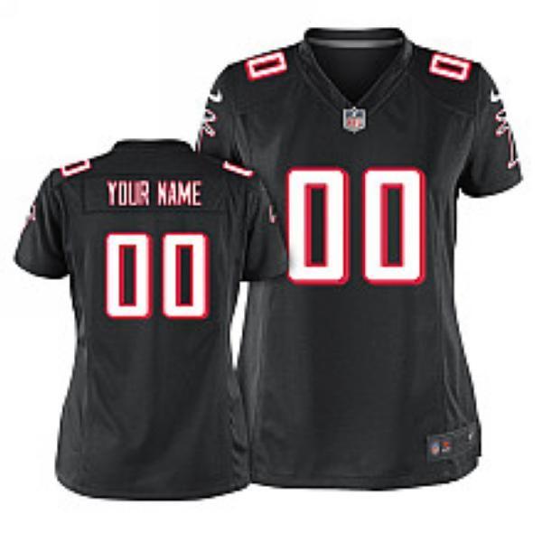 ... White Customized 2014 Elite Jersey Women Nike Atlanta Falcons Customized  Game Throwback ... 3da18b6da