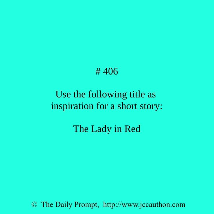Writing Prompt -- Use the following title as inspiration for a story: The Lady in Red.