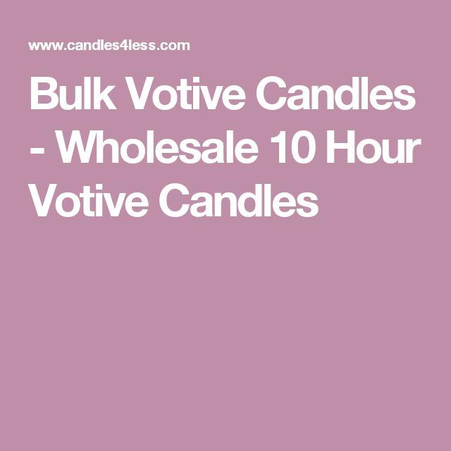 Bulk Votive Candles - Wholesale 10 Hour Votive Candles