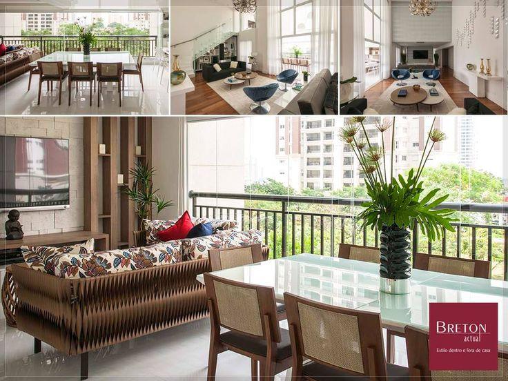 O belo projeto da arquiteta Erica Salguero leva, entre muitos móveis Breton, os sofás Miró e Bauer, cadeiras Ecos e poltronas Heros. Amplo e sofisticado!  #BretonActual #ProfissionaisBreton