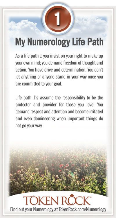 My #Numerology Life Path #1