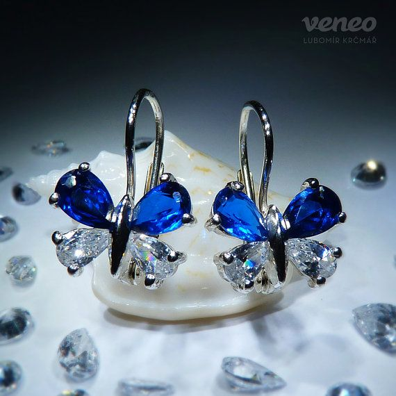 Little Butterfly. Silver or Gold Sapphire and Zircon by Veneo, $50.00
