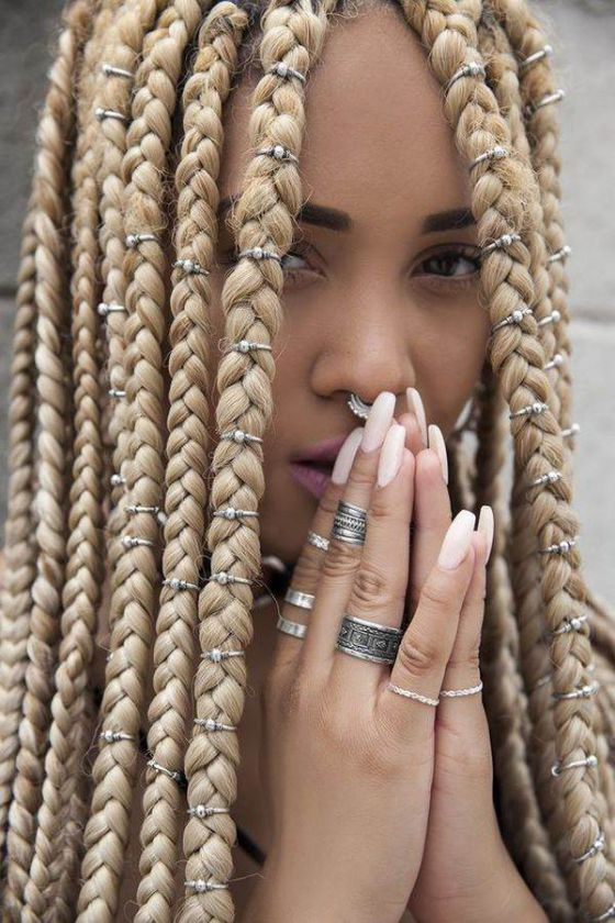 trenza africana para cabello largo                                                                                                                                                                                 Más