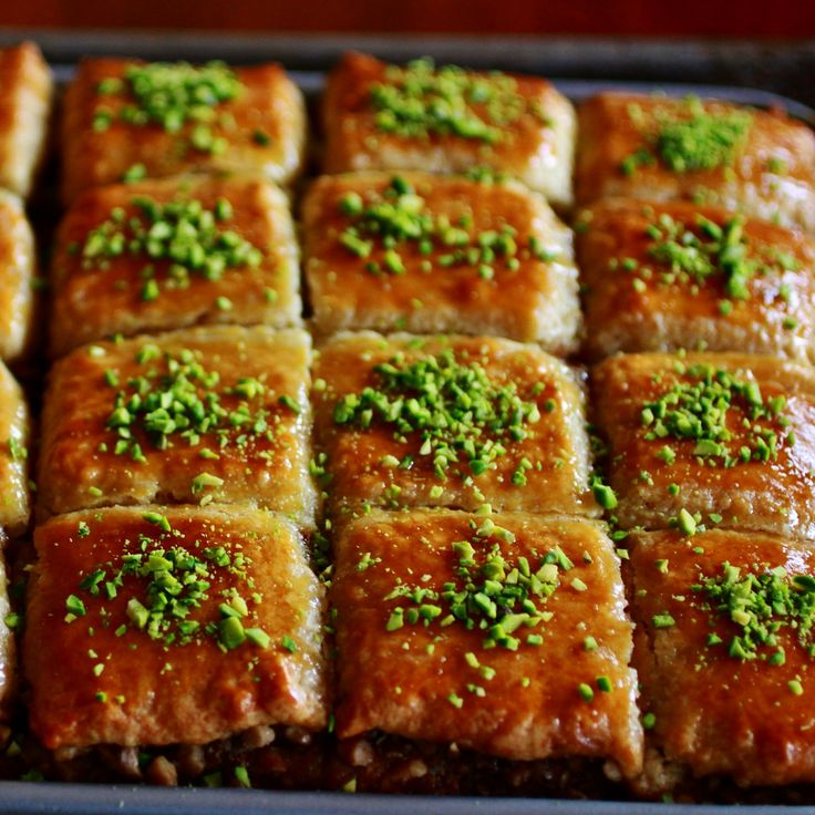 Persian Baklava Cake is incredibly moist and delicious. It is filled with walnuts and perfumed with cinnamon and cardamon. Once baked the cake is drizzled with a syrup with a hint of rosewater