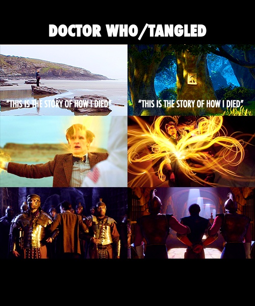 Tangled Doctor00 Mindblown, Timey Wimey, Tangled, Timelord, Doctors Who, Dr. Who, Flynn Rider, Disney Movie, Time Lord