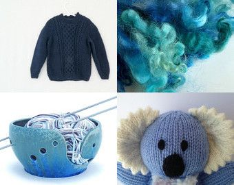 Blue for Friendship by Brenda Warner on Etsy--Pinned+with+TreasuryPin.com