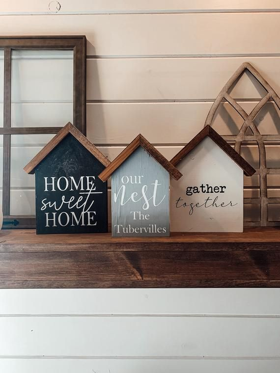 Small Farmhouse Sign Small Wooden Sign Welcome Entryway Small Sign Tiered Tray Decor Welcome Tiered Tray Sign