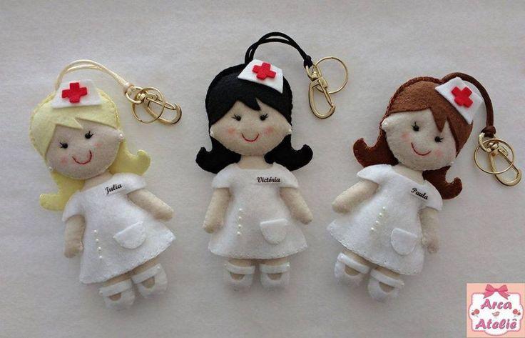 Enfermeira em feltro | Arca Ateliê- Veridiana | Elo7