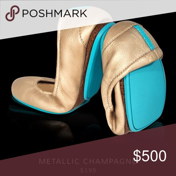 ISO champagne tieks size 6 ISO. NOT FOR SALE. Would love to have these for my wedding. Looking for new or euc only. Please let me know if you can help! Tieks Shoes Flats & Loafers