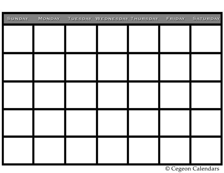 17 beste ideeën over Printable Blank Calendar op Pinterest ...