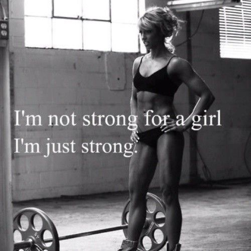 This is exactly how I feel when people tell me I have huge biceps for a girl. Being a sexy woman in my opinion, means being strong as well! Skin and bones is not a good look for anyone.