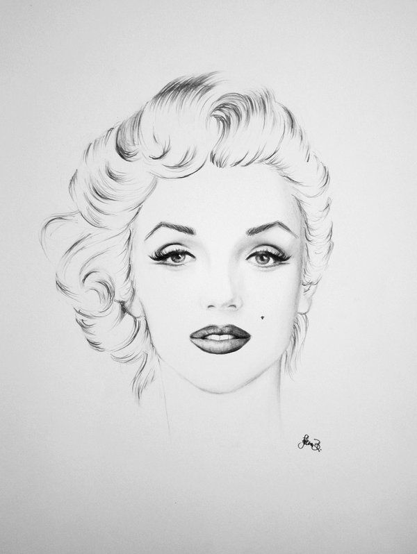 marilyn by jelena--b   | This image first pinned to Marilyn Monroe Art board, here: http://pinterest.com/fairbanksgrafix/marilyn-monroe-art/ || #Art #MarilynMonroe