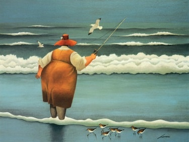 Lowell Herrero (American, born 1921)  ( fat positive art )