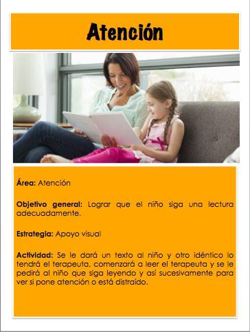 Actividad para lograr que el niño  siga una lectura adecuadamente.