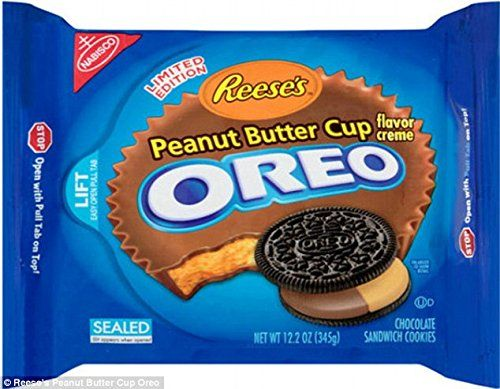 NABISCO OREO LIMITED EDITION REESE'S PEANUT BUTTER CUP(1PACK), 12.2 oz Oreo http://www.amazon.com/dp/B00KV4QTNW/ref=cm_sw_r_pi_dp_QRGRtb15XH7NWBA2