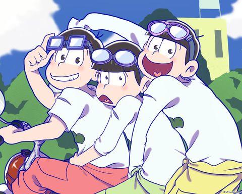 Osomatsu-san- Osomatsu, Jyushimatsu & Choromatsu #Anime「♡」