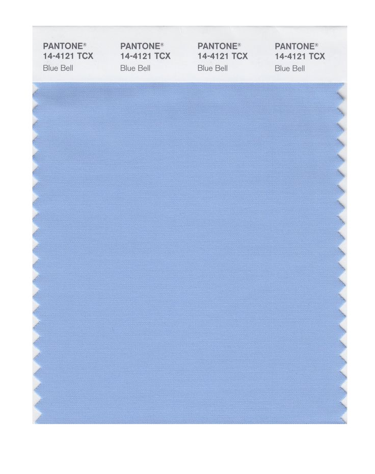 Pantone smart 14 4121x color swatch card blue bell for Light gray color swatch